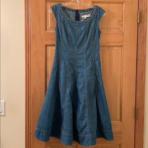 Anthropologie Pilcro denim flowy dress. Worn once.
